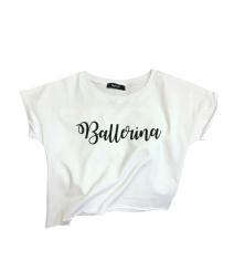 GYMO SPORTS - Bale Kısa Bluz Ballerina Beyaz