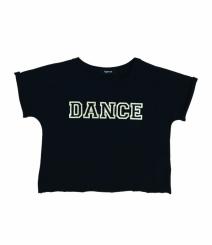 GYMO SPORTS - Bale Kısa Bluz Dance Siyah