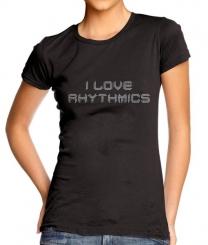 - Baskıya Hazır Kristal Taş Transfer I Love Rhythmics-ILR01