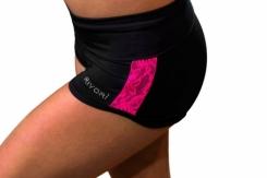 RIVORI - Rivori İşlemeli Cimnastik Şortu – Siyah x Fuşya