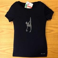 RIVORI - Rivori Top Baskılı Cimnastik T-Shirt