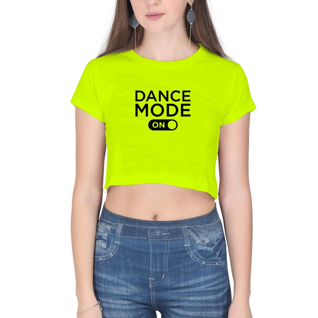 GYMO DANCEWEAR - Bale Kısa Bluz Dance Mode On Fosforlu Sarı