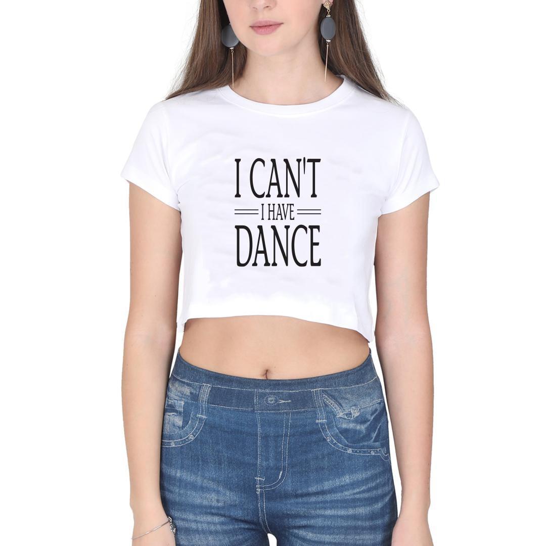 GYMO DANCEWEAR - Bale Kısa Bluz I Cant I Have Dance Beyaz