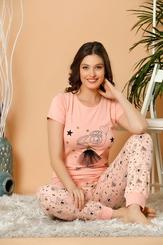 - Beautiful Ballerina Pamuklu Likralı Pijama Takımı