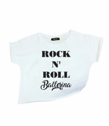 GYMO SPORTS - Bale Kısa Bluz Rock 'n Roll Ballerina Beyaz