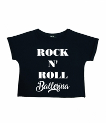 GYMO SPORTS - Bale Kısa Bluz Rock 'n Roll Ballerina Siyah