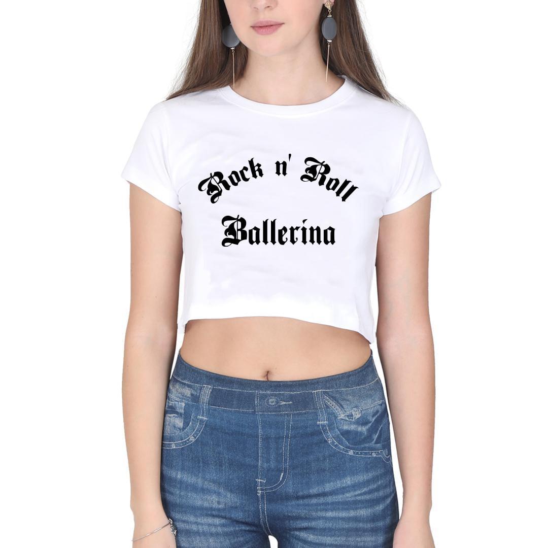 GYMO DANCEWEAR - Bale Kısa Bluz Rock 'n Roll Ballerina V2 Beyaz