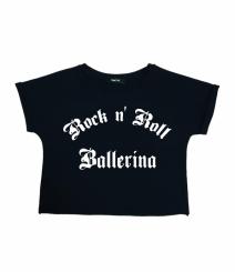 GYMO SPORTS - Bale Kısa Bluz Rock 'n Roll Ballerina V2 Siyah
