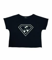 GYMO SPORTS - Bale Kısa Bluz Super Girl Siyah