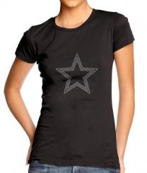 - Baskıya Hazır Kristal Taş Transfer Star