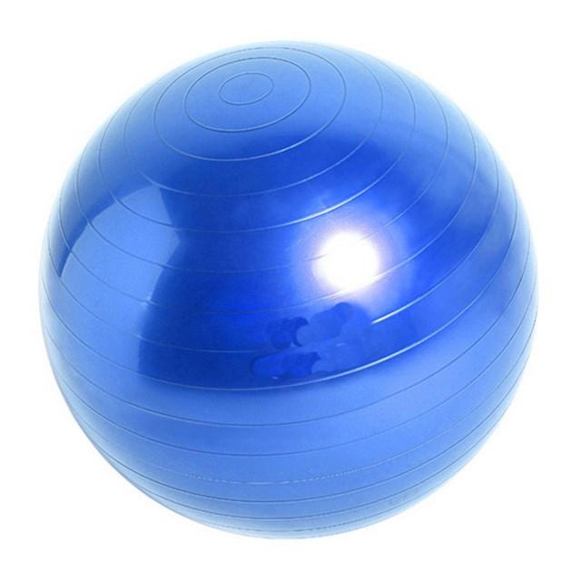 GYMO SPORTS - Gymo 65cm Pompalı Pilates Fitness Denge Egzersiz Topu Mavi