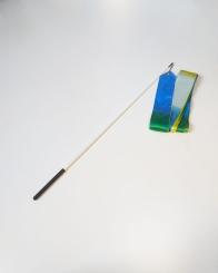 GYMO SPORTS - Gymo Cimnastik Kurdelesi 6m Beyaz-Mavi-Sarı (Çubuk Dahil)