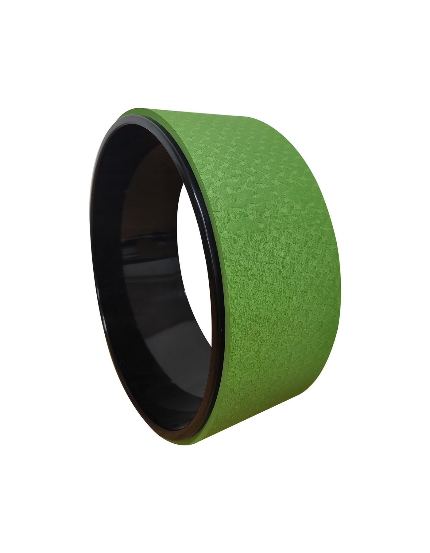 GYMO SPORTS - Gymo Pro Series Yoga Tekerleği Egzersiz Çemberi 33cm Yeşil x Siyah