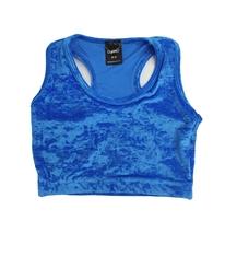 GYMO SPORTS - Gymo Sports Kadife Büstiyer Mavi