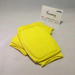 GYMO SPORTS - Gymo Sünger Destekli Yumuşak Dizlik Fosforlu Sarı