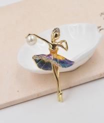 - Mavi Balerin Taşlı Broş Model Sanikova