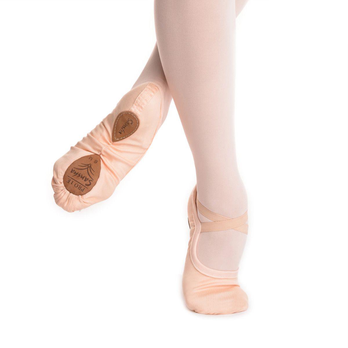 SANSHA - Sansha Bale Patiği Pro Stretch 1E Canvas Açık Pembe
